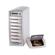 DUP-07 CD/DVD copytower with 7 Plextor writers, 1reading-device, 80 GB hard drive.