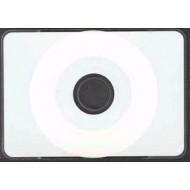 CD-R Cartões de visita redondos, brancos, imprimivéis, por impressão térmica.